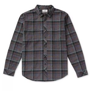 Billabong coastline flannel btton down shirt sz L